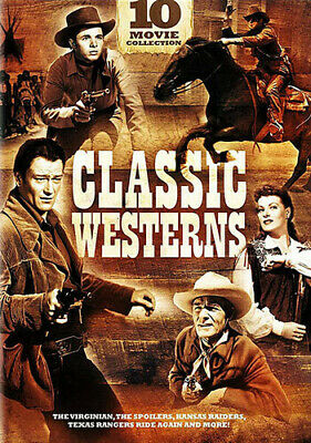 Classic Westerns: 10-Movie Collection [New DVD] Full Frame, Snap Case, 3 Pack