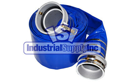"""6"""" x 50ft Blue Water Discharge Hose Camlocks"""