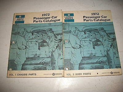 Original 1972 Dodge Chrysler Plymouth Master Parts Catalogue Body Chassis Clean