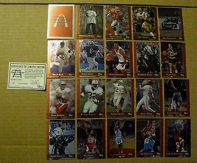 1995 SCOREBOARD 16th NATIONAL SPORTS COLLECTORS CONVENTION 20 CARD SET