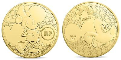 2016 MICKEY - 200 Euro 1 Uz Gold Or PP/PROOF 500 Ex