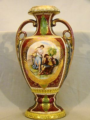 Vienna Cabinet Urn Vase after Angelica Kaufmann Blue Royal Vienna Style Beehive