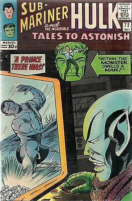 Tales To Astonish # 72 / Fine / Price Variant.