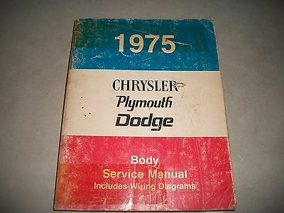 1975 Dodge/chrysler/plymouth  Body Service Shop Manual  Dart Charger Duster