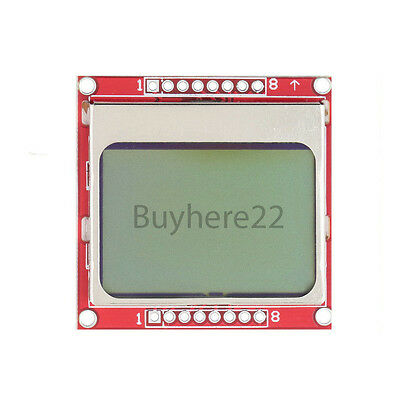 84x48 Nokia 5110 LCD Module Blue Backlight Display PCB NEW UK Seller