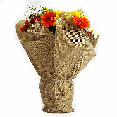 Deluxe Decor 12oz Natural Jute Hessian Burlap Florist Wrapping Fabric Material