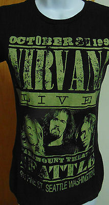 Womens Nirvana 1991 live in Seattle med T-Shirt