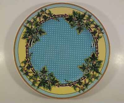 "Rosenthal for Versace 10"" Dinner Plate ""Ivy Leaves Passion"" Pattern"