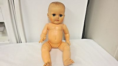 """Older Nude Hard Plastic 18"""" Drink and Wet Jointed  Doll #20-7 on neck"""