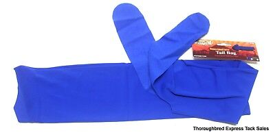 Tough-1 Blue Fleece Lined Lycra Tail Bag Horse Tack Equine 65-9280