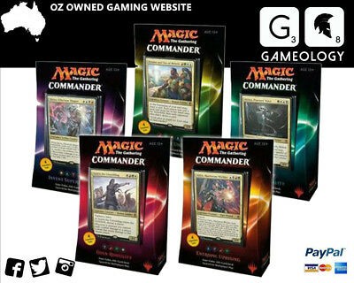 MAGIC THE GATHERING Commander 2016 DECKS - ALL 5 SETS