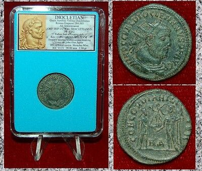 Ancient Roman Coin DIOCLETIAN Emperor and Jupiter Reverse Museum Quality Coin!