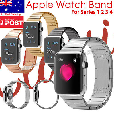 Butterfly Buckle Link Bracelet Stainless Steel Band For Apple Watch iWatch 2