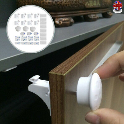 Magnetic Baby Child Kids Pet Proof Cupboard Cabinet Drawer Safety Lock 4/8