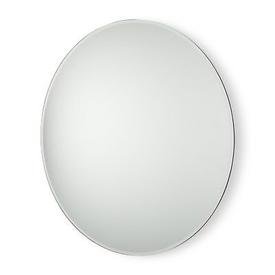 "28"" Large Glass Round Floating Wall Mirror"
