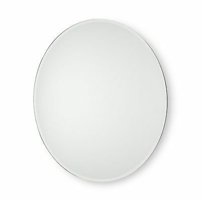 "20"" Glass Small Round Floating Wall Mirror"