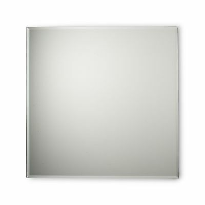 "24"" Glass Square Floating Wall Mirror"