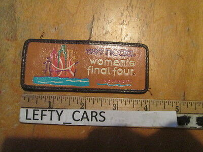 Vtg 1997 Ncaa Women's Final Four Cincinnati Embroidered Coated Leather Patch