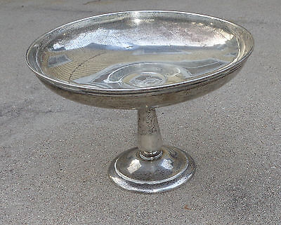 antique large sterling silver compote bowl