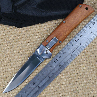 Damascus Knives Outdoor Multifunctional Tool Abalone Folding 440C Knife Collect