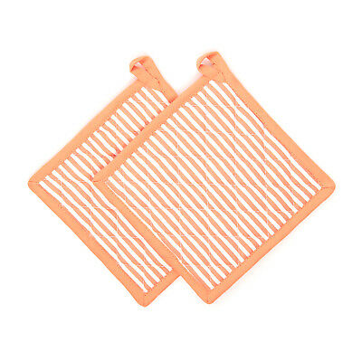 Set Presine Arancioni Striped Summer Da 20X20 Cm In Cotone