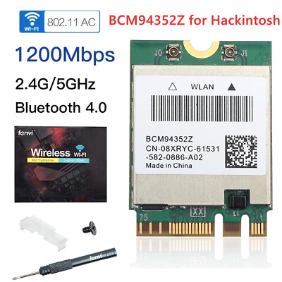 1200M BROADCOM BCM94352Z DW1560 802 11AC Bluetooth 4 0 WIFI WLAN Card  Hackintosh