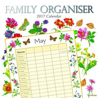 Family Organiser (Nature) 2017 Wall Calendar NEW by the Gifted Stationery