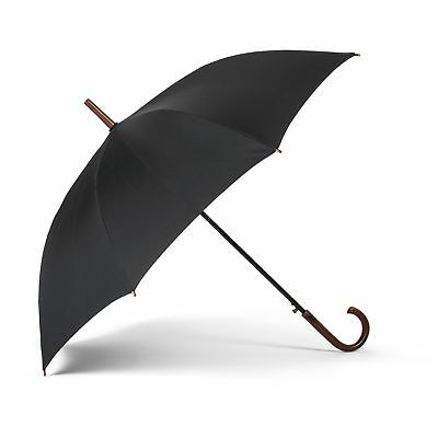"48"" Classic Winston Wide Fabric Polyester Umbrella with Curved Handle"