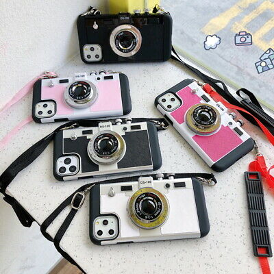 Retro 3D Camera Shockproof Back Phone Case Cover For iPhone 8 6 6S 7 Plus 5S SE