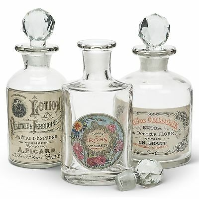 Antiqued Victorian-style Apothecary Jars