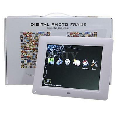 """8"""" HD TFT-LCD Digital Photo Movies Frame Audio Video Alarm MP3 MP4 Player Gift"""