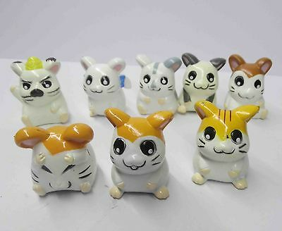 lot of 8 Hamtaro / Trotting Hamtaro pvc mini figures 2-3cm OLD LOST COLOR