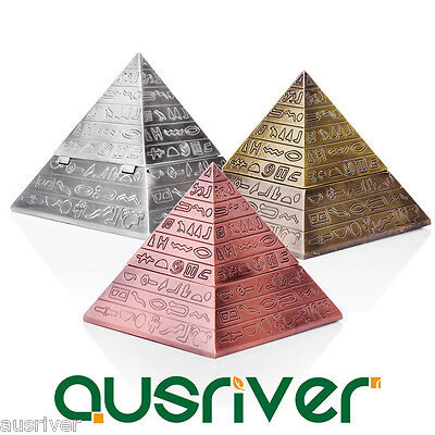 Pyramid Shape Cigarette Ashtray Smoke Holder Case Home Creative Decor Xmas Gift