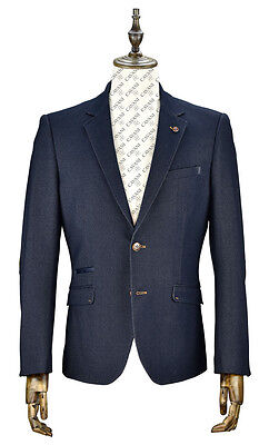 Mens Blazer Formal Jacket Casual Slim Fit Blue Sizes 36 To 50