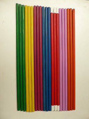 21 x Coloured Wooden Dowel Rods
