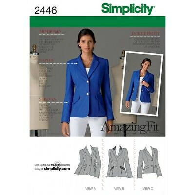 Misses  Jackets Simplicity Fabric Sewing Patterns 2446**