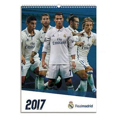 Official Licensed Football Product Real Madrid Calendar 2017 Wall Fan Gift New