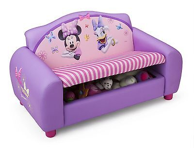 Disney Minnie Mouse Upholstered 2 Seater Sofa with under seat storage
