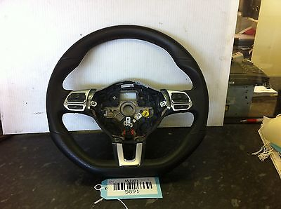 2010 VW Scirocco 2.0 TDi Flat Bottomed Leather Multi Function Steering Wheel CE