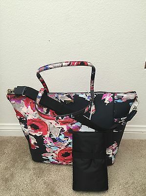 NWT KATE SPADE BLURRYFLORAL Laurel Way Printed Adaira Diaper Baby Bag WKRU4095