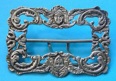 Antique Victorian Solid Silver Large Ornate Buckle Weight 42 Grams
