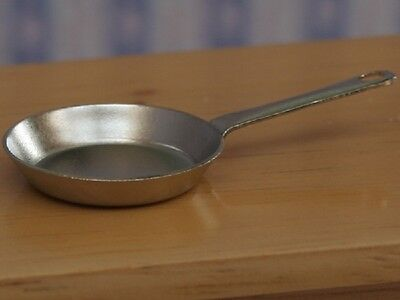Silver Frying Pan, Dolls House Miniatures Kitchen Accessory