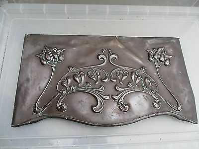 Victorian Copper Fire Hood Case Art Nouveau Fireplace Vintage Old CASE / COVER