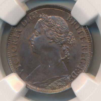 MAKE AN OFFER! -- Great Britain Farthing 1890 - NGC MS 64 BN