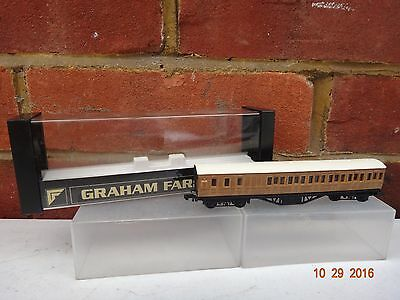 GRAHAM FARISH LNER TEAK 57ft SUBURBAN BRAKE END COACH N GAUGE BOXED