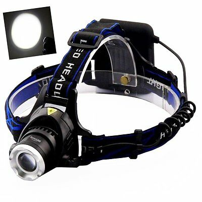 LED Head Torch, Meyoung Super Bright LED Headlight Headlamp XM-L T6 for Running