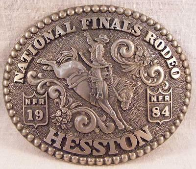 Vintage National Finals Rodeo Hesston 1984 NFR Adult Cowboy Buckle