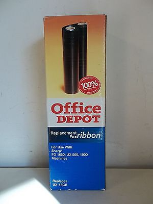 Office Depot Black Replacement Fax Ribbon Sharp* Fo 1650; Ux 500/1000 Machines