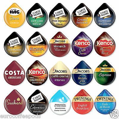 20 x Tassimo Variety Sample Coffee, Tea, Choco T-disc, 20 x Assorted Flavours