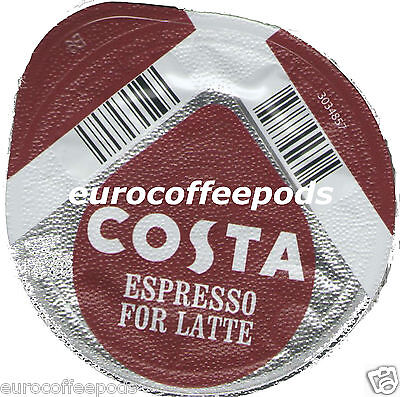 24x Tassimo Costa Espresso for Latte Coffee T-discs (Sold Loose) Expresso